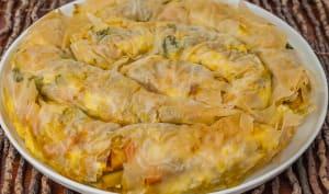 Mhancha salée aux légumes, épices et feta