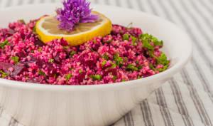 Salade de semoule aux betteraves et fines herbes