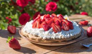 Tarte aux fraises et chantilly