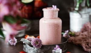 Smoothie fraises et rhubarbe