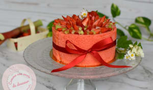 Charlotte fraise rhubarbe mousse fromage blanc