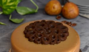 Entremets poire noix de pécan