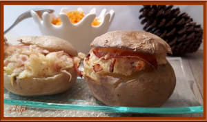 Pommes de terre farcies au fromage et bacon