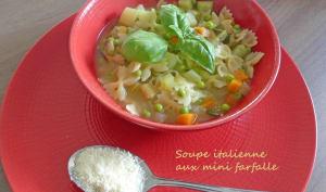Soupe italienne aux mini farfalle