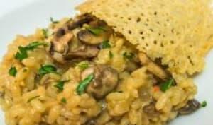 Risotto aux champignons de Paris et parmesan