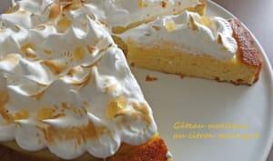 Gâteau moelleux au citron meringué