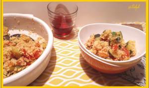 Salade de couscous, courgettes et tomates à l'Indienne