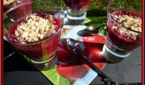 Gelée de cerises en verrines