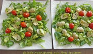 Salade d'artichauts aux fèves et citron