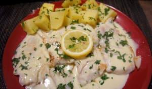 Filets de merlan sauce au beurre citronnée