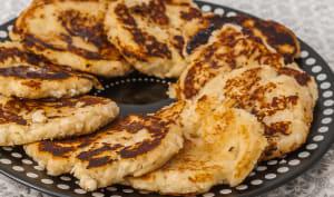 Pancake au fromage frais et à la semoule