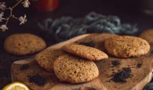 Cookies au citron, pavot et poudre d'amande