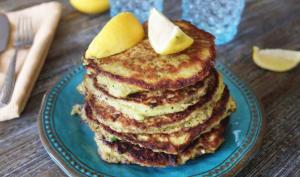 Pancakes de maïs et oignons verts