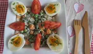 Macédoine de légumes maison et œufs durs