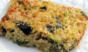 Gratin de courgettes et quinoa