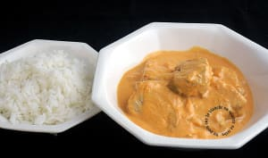 Filets mignons de porc au curry et lait de coco