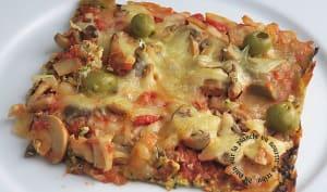Pizza, pâte aux courgettes