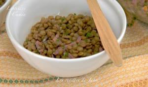 Salade tiède de lentilles