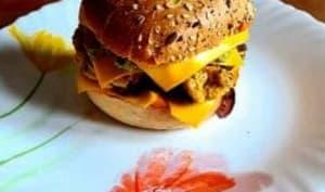 Burger végétarien avec steak végétal