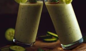 Soupe froide au concombre et à la menthe façon gaspacho