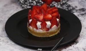 Cheese cake aux fraises et moelleux citron