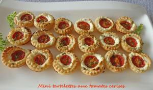 Mini tartelettes aux tomates cerises