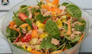 Salade d'épinards croquante au thon