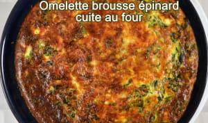 Omelette brousse épinards, cuite au four