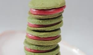 Biscuits matcha fraise