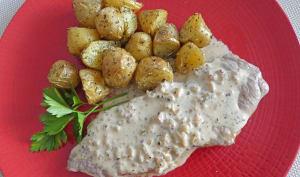 Faux-filet et sa sauce au poivre