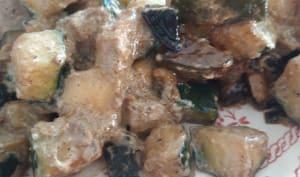 Poêlée de courgettes à l'ail noir
