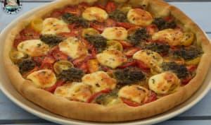 Tarte pesto tomates mozzarella