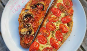 Bruschetta, pain maison