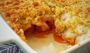 Crumble de carottes au parmesan et au cumin