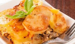 Gratin pommes de terre et viande hachée