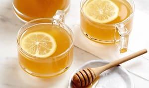 Infusion de citron et de camomille