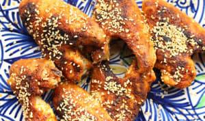 Ailes de poulet grillées au cumin et au piment