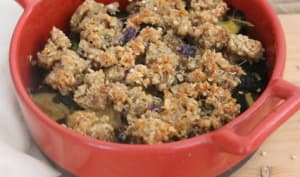 Crumble courgette quinoa au thym