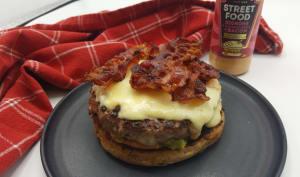Hamburger au fromage à raclette
