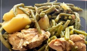 Poulet haricots vert et pomme de terre