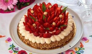 Tarte aux fraises et noisettes