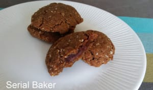 Cookies noisette fourrés au chocolat