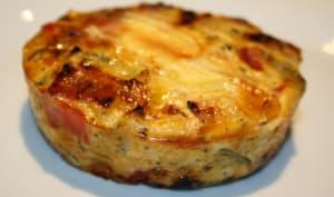 Tortilla de légumes gratinée au reblochon