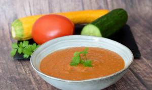Soupe froide de tomate concombre