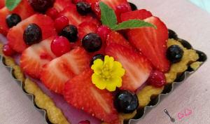 Tarte panna cotta aux fruits rouges