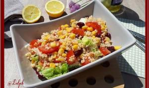 Salade de boulghour au maïs et haricots rouges