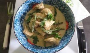 Curry de poulet aux légumes verts