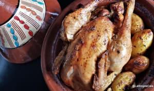 Poulet rôti en plat de tajine