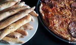 Pâte à Pizza et gressins