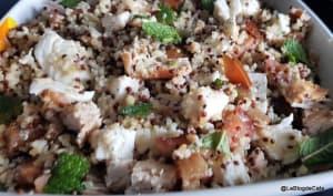 Salade complète au quinoa et boulgour